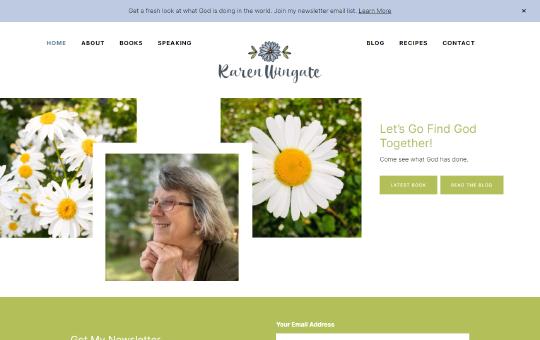 Karen Wingate | Author, Speaker, and Bible Study Leader