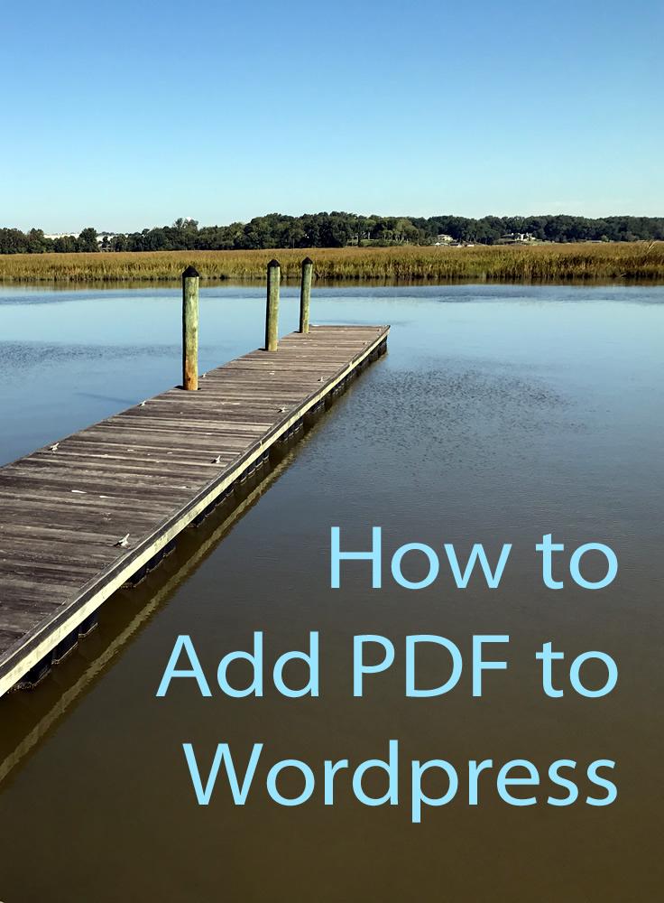 Add a PDF to WordPress