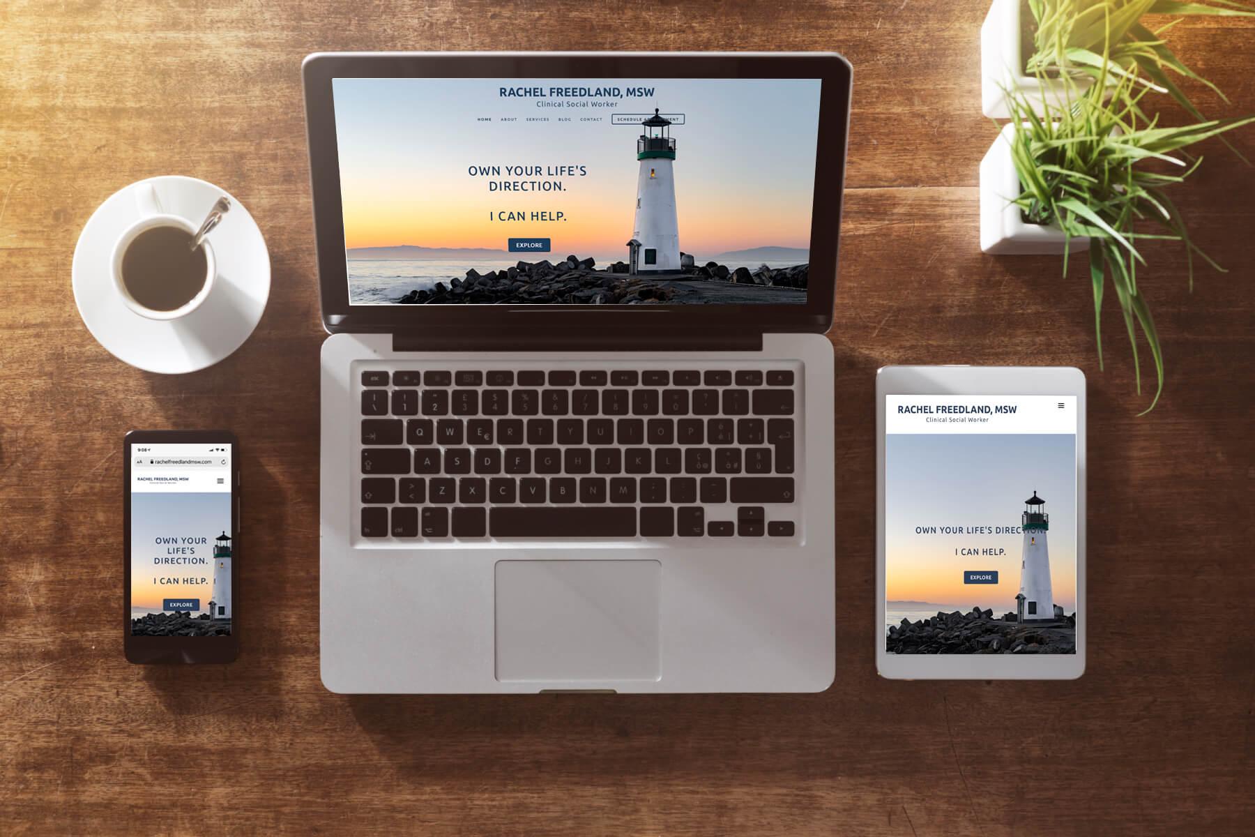 Website for Therapist Rachel Freedland